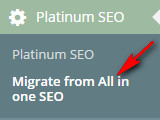 переход с all in one seo на platinum seo